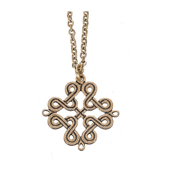 THE KARELIAN PLAITED RIBBON MOTIF PENDANT, material: bronze
