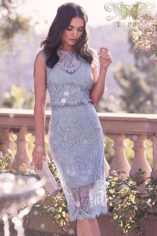 80d9ee3c8109a Lipsy VIP Embroidered Lace Midi Dress | Fashion 5 | Dresses, Lace ...