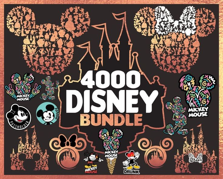 Disney svg, Disney Bundle svg, Disney castle svg files for
