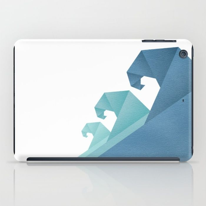Wave geometric art iPad Case