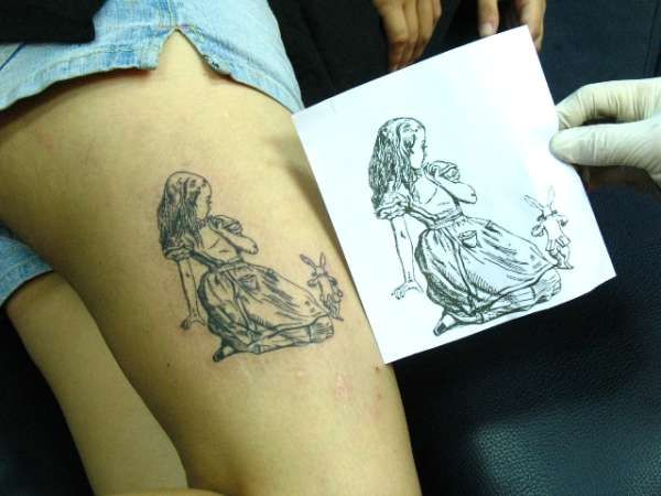 224 best images about disney ink on pinterest for Small alice in wonderland tattoos