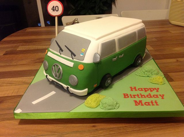 vw campervan cake instructions