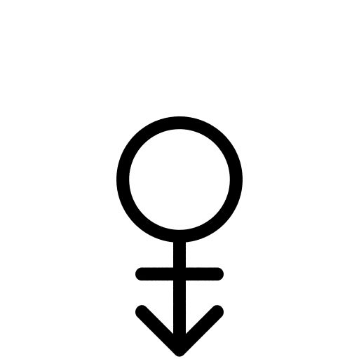 Gender Symbol (Andro) - R Middle Finger | Permanence ...
