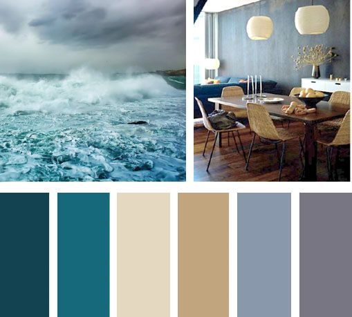 La profundidad que tiene el azul genera un buen contraste - Combinar color gris en paredes ...