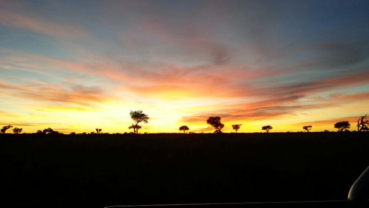 Rainbow Sunrise in the Kalahari