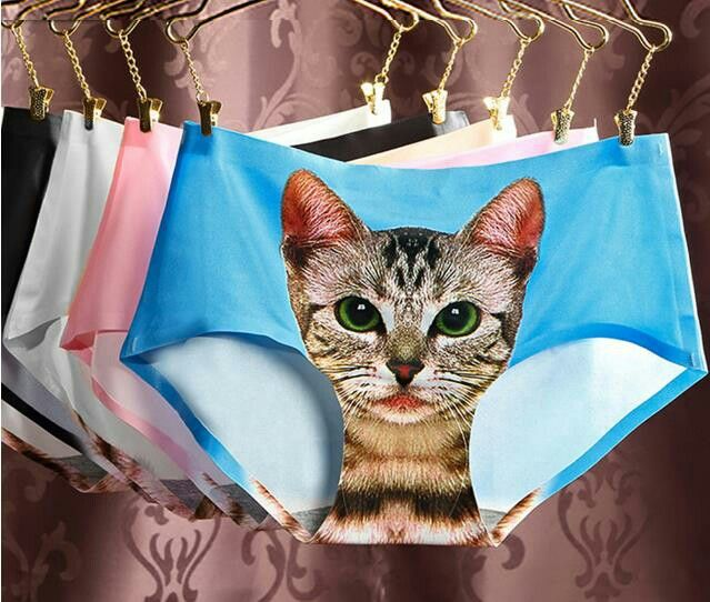 9199a6dcc3dd 3D printing Women's Pussycat Panties Anti Emptied Cat Printing Underwear  Women Panty Sexy Briefs Women Seamless Control Girls in 2019 | Women's  Fashion ...