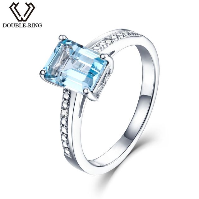 Check lastest price DOUBLE-R Real Diamond Engagement ring Female 1.9ct Natural Blue Topaz 925 sterling silver rings Fine Jewelry Gift For Women just only $30.00 with free shipping worldwide  #finejewelry Plese click on picture to see our special price for you