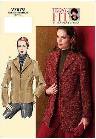 Vogue Pattern V7976 Today's Fit by Sandra Betzina Misses' Jacket