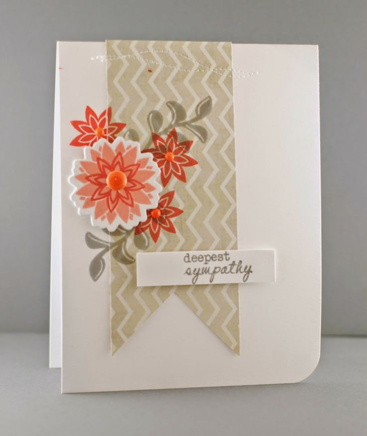 Card Making Ideas Sympathy Part - 15: The Mango Boys And Me: Fusion: Deepest Sympathy