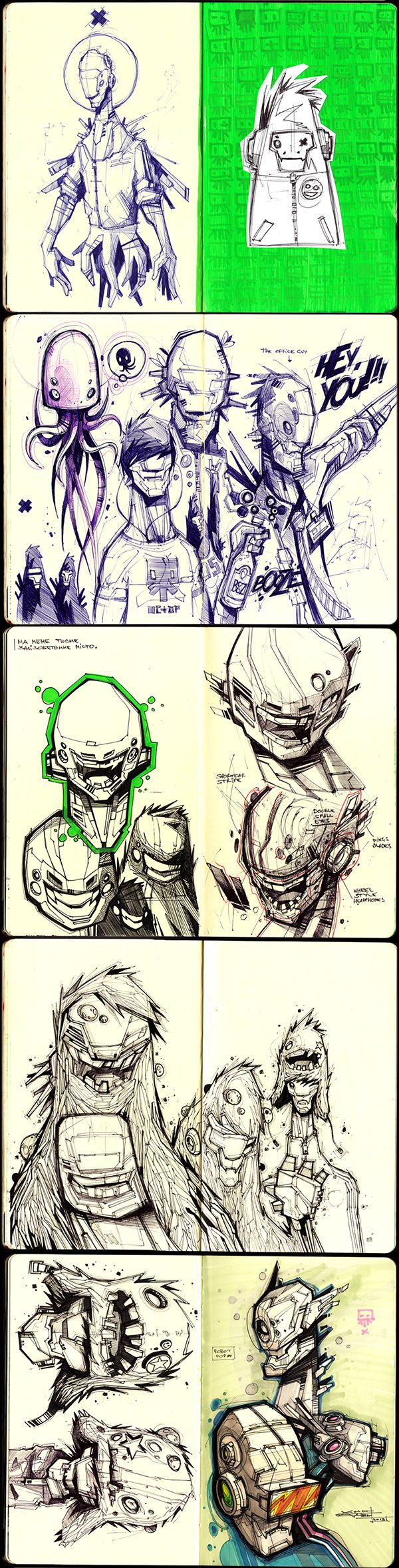 Sketches 2011-2013 on Behance
