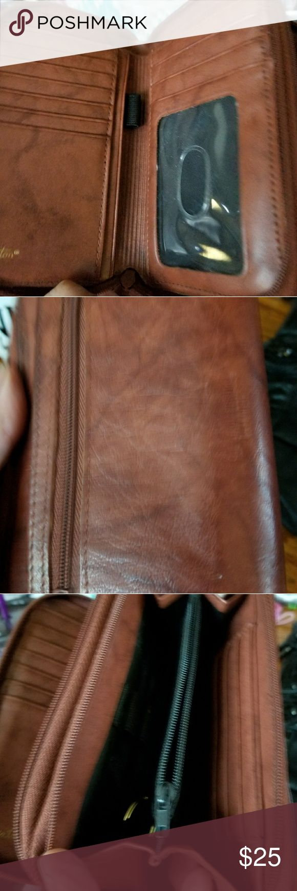 Buxton wallet A lot of organizational pockets. Has a pen holder as well as a mirror Buxton Bags Wallets