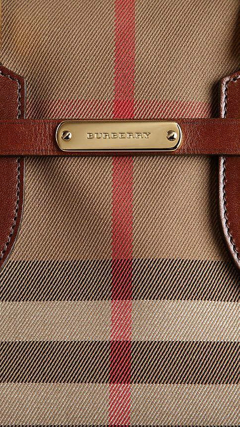 Small Bridle House Check Tote Bag | Burberry