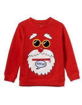 STELLA MCCARTNEY KIDS Unisex Red Santa Sweatshirt. Shop here: http://www.tilltwelve.com/en/eur/product/1084266/STELLA-McCARTNEY-KIDS-Unisex-Red-Santa-Sweatshirt/