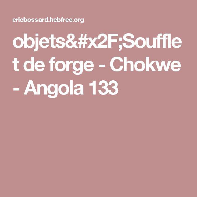 objets/Soufflet de forge - Chokwe - Angola 133