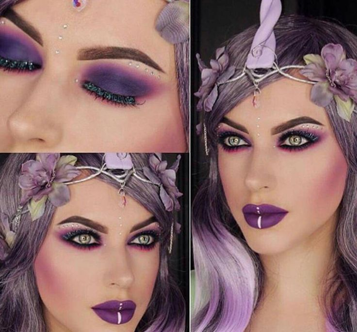 love this purple unicorn makeup perfect for halloween looks soo beautiful and amazing my favourite love it amazing - Eyeshadow For Halloween