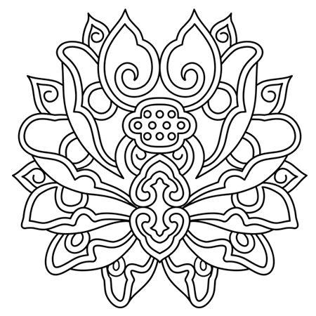 Lotus mandala dessin fleur de lotus mandala a colorier patterns pinterest henna lotus - Coloriage fleur mandala ...