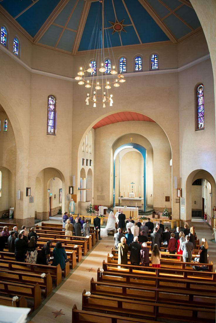 wedding ceremony in the beautiful St John Fischer Church