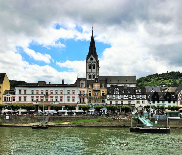 This is Boppard, Germany, a beautiful town that we passed travelling along the Rhine.