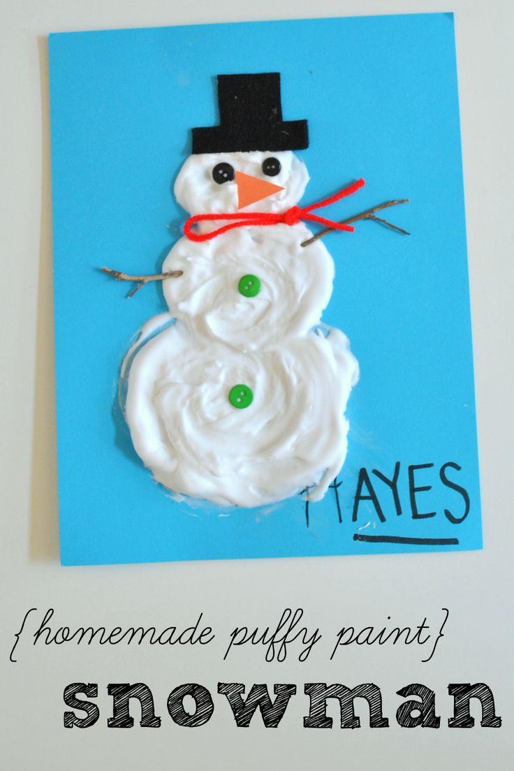 Homemade Puffy Paint Snowman | Houston Moms Blog
