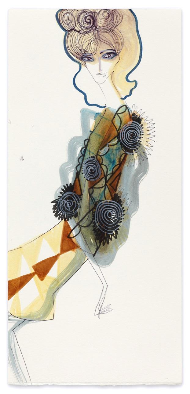Fashion illustration |  by Tanya Ling |  sketch  |  drawing |  painting |  print