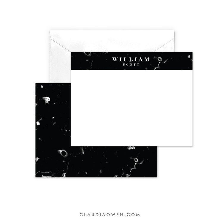 Mens personalised note card masculine design mens