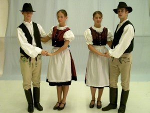 Székely regional dress for man and woman from the Transylvania region, Hungary