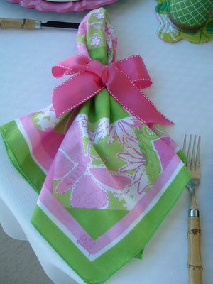 Lilly luncheon napkin...I love these!!!  www.fiercesouthernbelle.blogspot.com