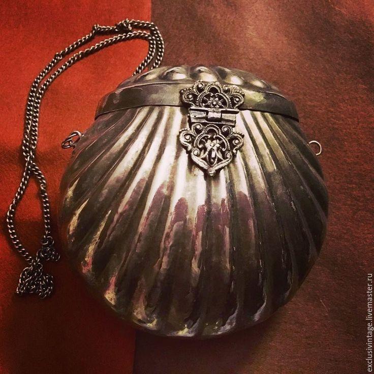 Купить Винтажная сумочка серебрение - серебряный, винтаж, винтажная сумочка, винтажный стиль, винтажный клатч
