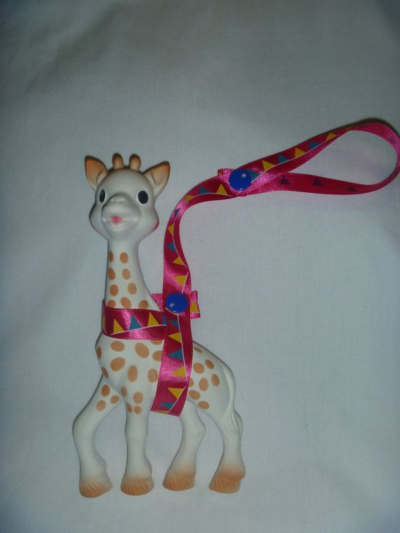 Pink Bunting Sophie the Giraffe Leash/Toy Saver Strap