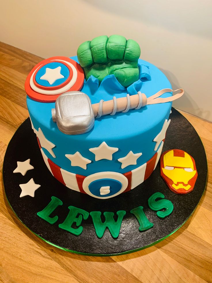 Hulk fist, Thor hammer, captain America and iron man! in