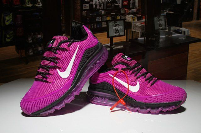 premium selection dd5eb f4ed7 Most Popular Nike Air Max 2018 Elite KPU Black Purple White Womens Running  Shoes Sneakers
