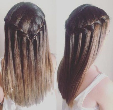 Stylish Hairstyles Half Up Half Down Informal Curled 70 Concepts