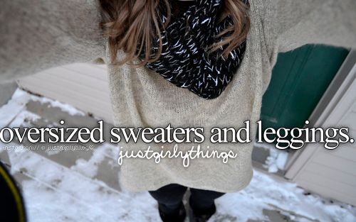 OVERSIZED SWEATERS, LEGGINGS AND BOOTS OUTFITS on The Hunt