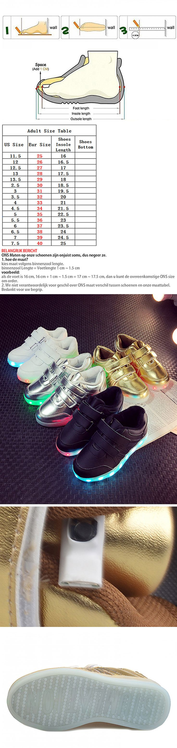 Awesome Kids Sneakers Unisex Fashion Light shoes Kids USB Charge Sole Glowing shining shoes with soles Led Luminous Shoes for boys girls - $ - Buy it Now!
