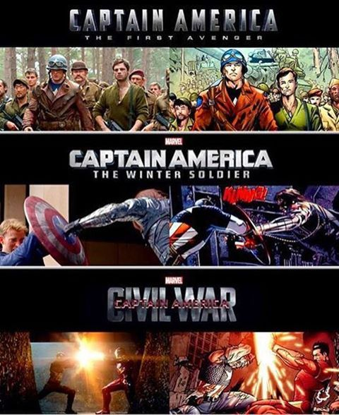 . Straight from the comics to the movies! Credits to MCU Philippines on Facebook #Marvel #CaptainAmerica #TeamCap #TeamCaptainAmerica #MarvelCinematicUniverse #MarvelComics #SteveRogers #ChrisEvans #BuckyBarnes #WinterSoldier #CivilWar #TheFirstAvenger