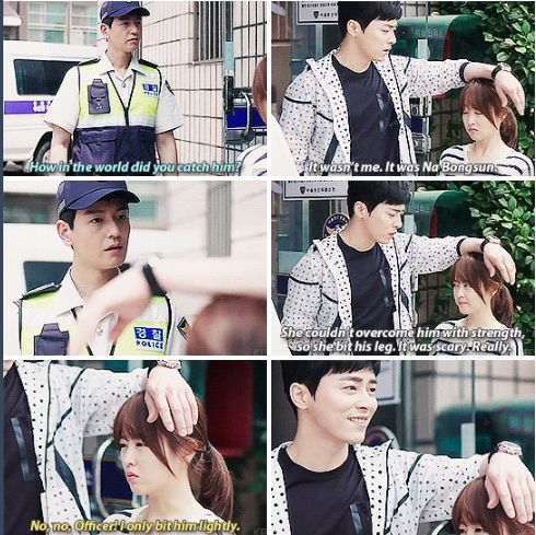 Oh My Ghostess, I love how he just naturally used her head as an armrest haha #Korean #drama