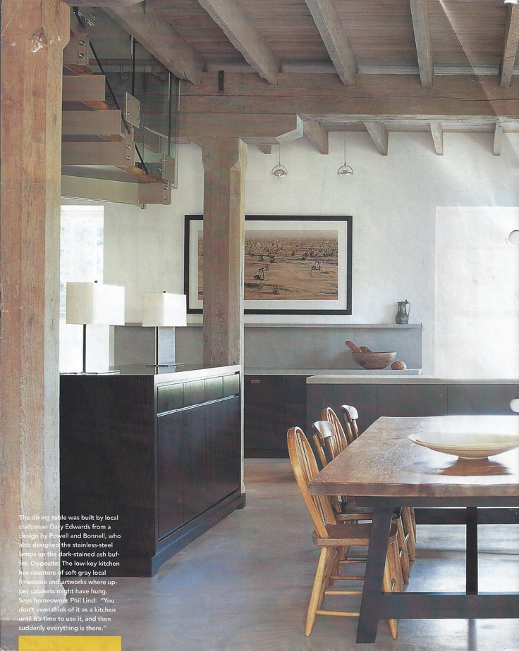 ceiling wood color, cool palette, dark wood accents