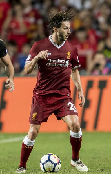 Liverpool FC midfielder Adam Lallana in action during the Premier League Asia Trophy match between Liverpool FC and Leicester City FC at Hong Kong Stadium on July 22, 2017 in Hong Kong, Hong Kong.