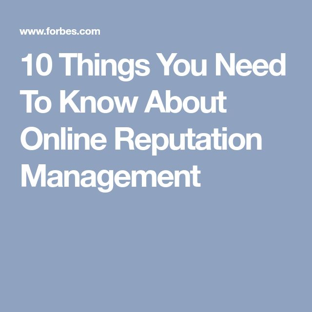 10 Things You Need To Know About Online Reputation Management