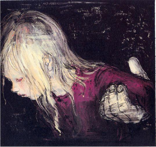 """「赤い蝋燭と人魚」より 画:酒井駒子 - Image from """"Red Candle and Mermaid"""" Illustrations by Sakai Komako"""