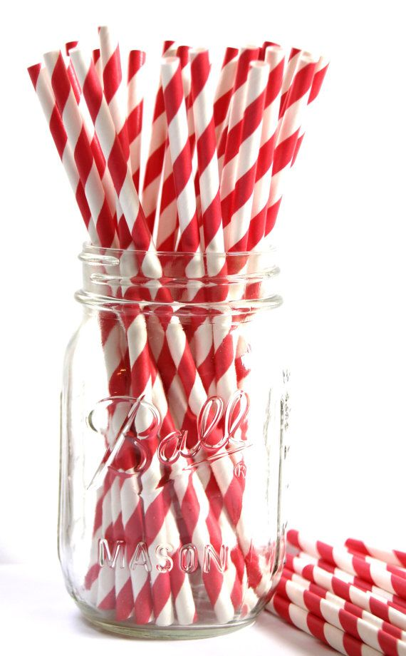 Candy Le Red And White Striped Paper Straws Perfect For A Valentine S Day Party Valentinesday In 2019 Canada