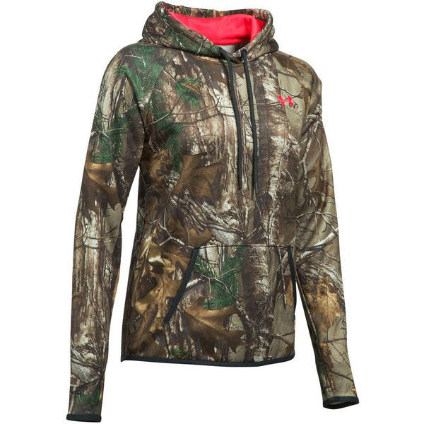 Under Armour Womens Camo Logo Pullover Hoodie ($56) ❤ liked on Polyvore featuring tops, hoodies, camo hoodie, hooded pullover sweatshirt, sweatshirt hoodies, camouflage hoodie and under armour hoodie