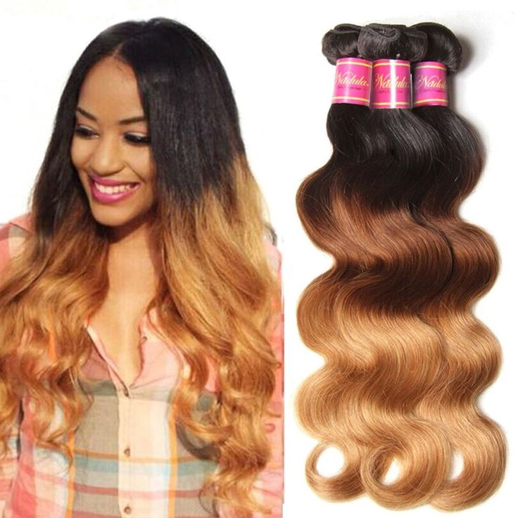 Nadula 6A Grade Brazilian Virgin Wavy Ombre Body Wave 3 Bundles Cheap Human Hair Products 95-100g/pcs Remy Weave Extensions Natural Color (16 18 20, T1b/4/27) *** This is an Amazon Affiliate link. Details can be found by clicking on the image.