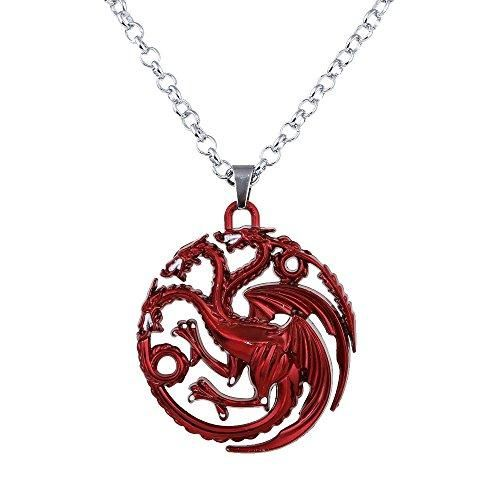Lureme Game of Thrones Inspired Targaryen Pendant Costume Necklace-Red (nl005382-1)