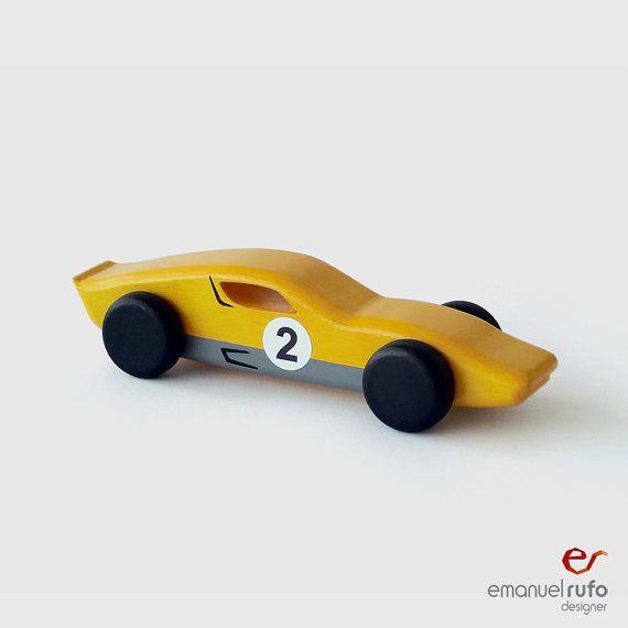 "Wooden Toy, wooden car  ""classic race car"" - Lamborghini Miura"