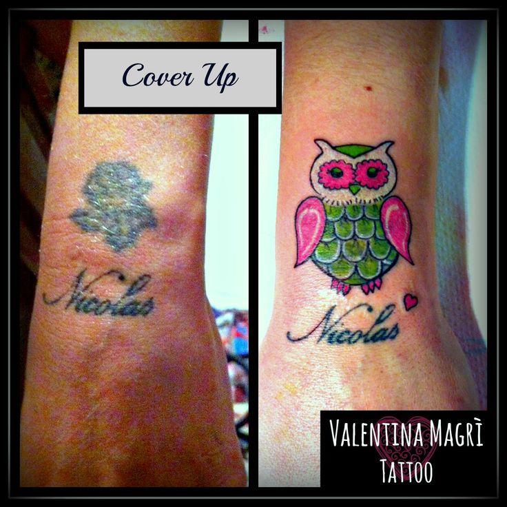 Cover up tattoo Owl - gufo