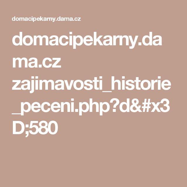 domacipekarny.dama.cz zajimavosti_historie_peceni.php?d=580