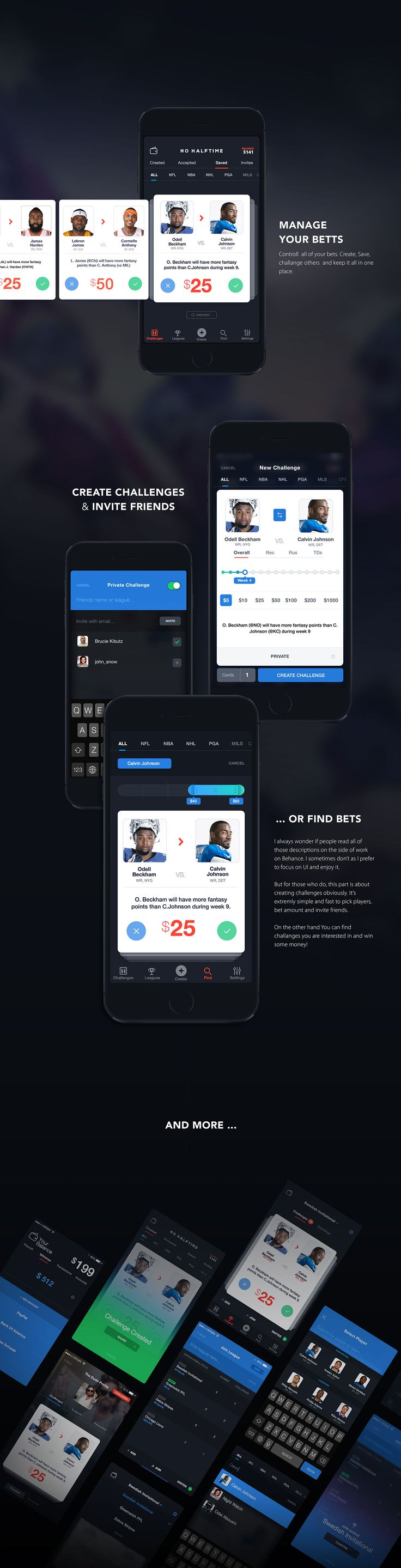NO Halftime Fantasy Sports Bets on Behance