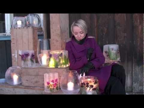 Moseplassen - livet i hagen | DIY: Slik lager du en dekorert islykt, uten form. (video)