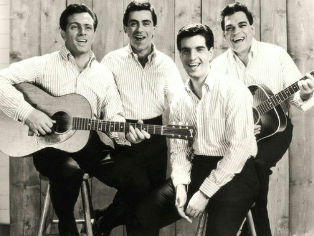 The Four Seasons - left to right Tommy DeVito, Frankie Valli, Bob Gaudio, and Nick Massi.